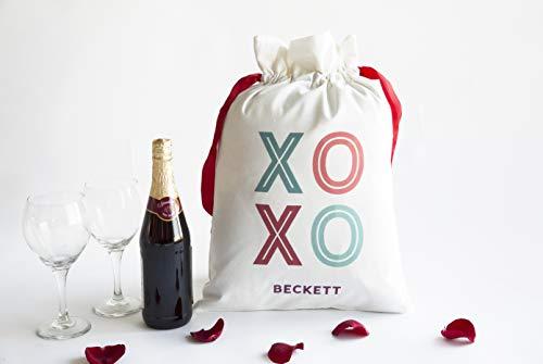 Personalized Bachelorette Party Favor Bag with Drawstring - Bridesmaid Makeup Bag or Hangover Kit Wedding Bag (Beckett Design)