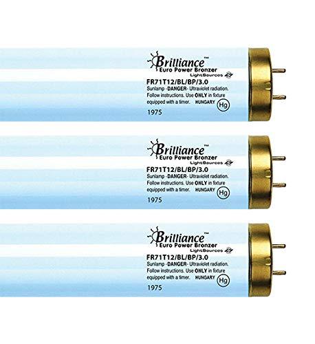 Brilliance EuroPower Bronzer FR71 100W-120W 3.0% Bi-pin Reflector Tanning Lamp - VLR (12)