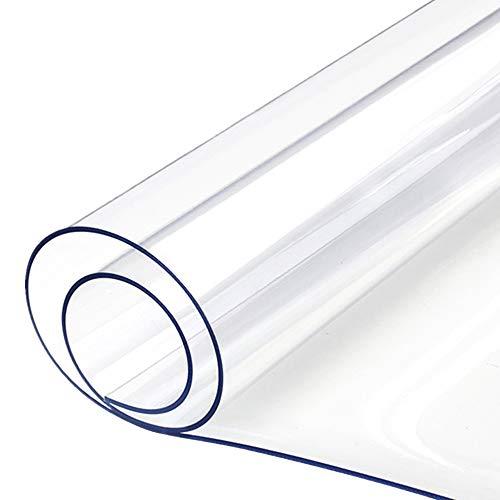 Yizunnu - Mantel protector de mesa de PVC transparente, suave e impermeable, de 1,5 mm, madera pvc, transparente, 70 x 120 cm