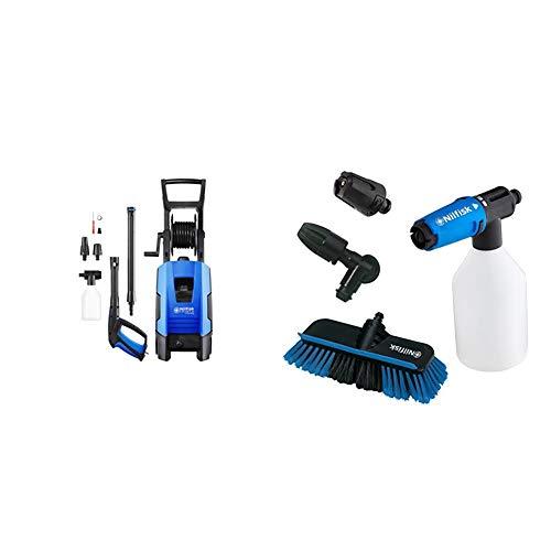 Nilfisk 128471165 C-PG 135.1-8 X- tra Hochdruckreiniger 1800 W, 230 volts, blau + Fahrzeugreinigungs-Set