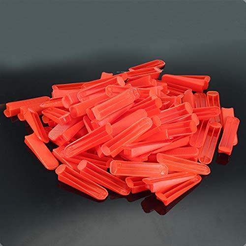 XCQ 100 stücke PVC-Fliesen-Nivel-Keilfliesen-Abstandhalter für Fliesen-Oberflächen-Nivelliersystem langlebig 0324