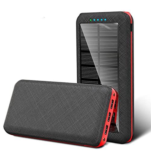 wwyy Cargador de batería de la batería del Banco de energía Solar de 80000mAh con Cargador rápido portátil inalámbrico LED 3 USB Teléfono, para iPhone Xiaomi Samsung