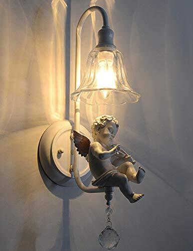 Moderne minimalistische slaapkamer bedlampje Nordic creatieve gangpad engel wandlamp hars persoonlijkheid led lamp decoratieve loft buiten, E14.