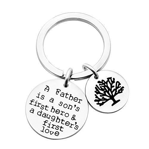 Ein Vater ist ein Sohn erster Held eine Tochter erste Liebe Silber Little Herz Dad Schlüsselanhänger Ring Vater Tag Geschenk ...