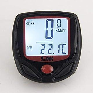 Peanutaor Compteur de v/élo Compteur de Vitesse sans Fil /Étanche V/élo Compteur de v/élo Compteur LCD Multi-Fonctions /Écran de r/étro/éclairage