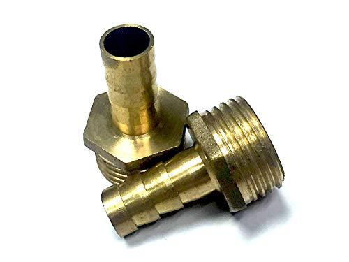 Veda Lot de 2 raccords de tuyau en laiton massif 10 mm vers filetage mâle BSP