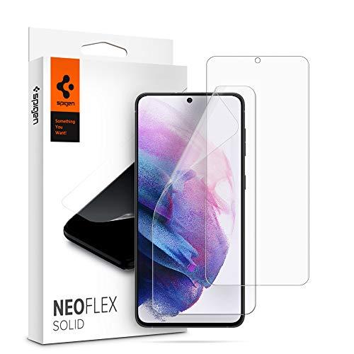 Spigen NeoFlex Solid Schutzfolie kompatibel mit Samsung Galaxy S21, 2 Stück, Kratzfest, Wasserinstallation Folie