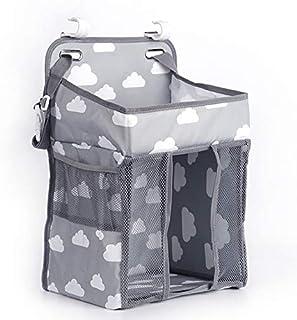Mumoo Bear Hanging Diaper Caddy Organizer & Stacker- Nursery Organization & Baby Shower Gifts for Newborn