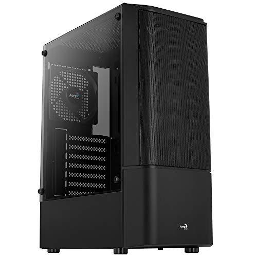 Aerocool QUANTUMMESHV1BK Negro, Caja PC ATX, Cristal Templado, Ventilador 12cm