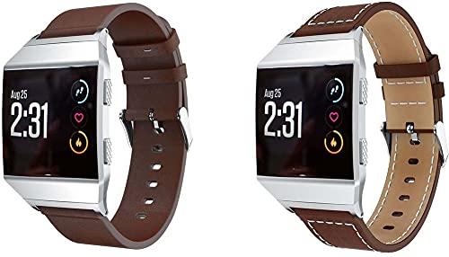 Classicase Correa de Reloj Piel Compatible con Fitbit Ionic, Correa/Banda/Pulsera/Strap (Pattern 1+Pattern 3)