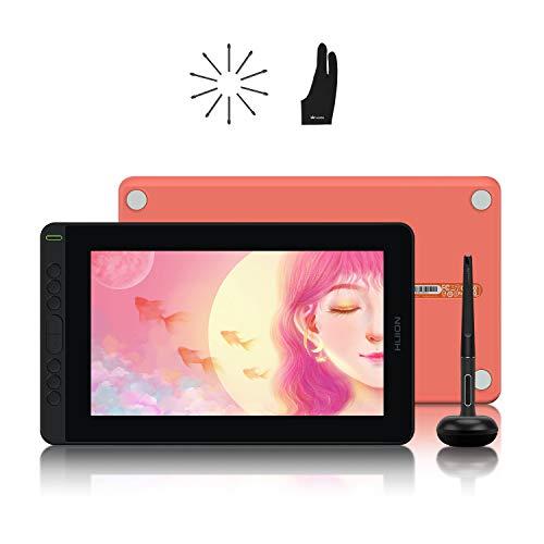 HUION 2021 Kamvas 12 Tableta gráfica 1920 x 1080 FHD, Monitor de Dibujo gráfico de 11,6 Pulgadas con Pantalla laminada Completa, Adecuado para Trabajar Desde casa y estudiar de Forma remota y Gaming