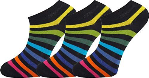 Mysocks unisex calcetines de entrenamiento 3 pares Nuevo arcoiris oscuro