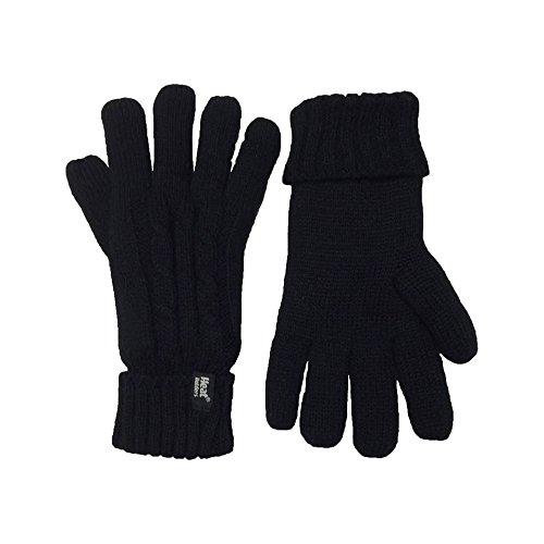 HEAT HOLDERS Ladies Cable Knit Heatweaver Thermal Gloves (Small/Medium, Jet...