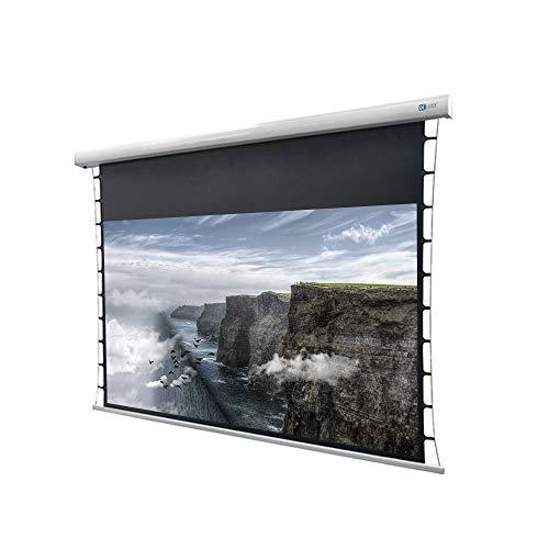 DELUXX Cinema pantalla motorizada tensionada 4K Pro Fibra MWHT 177 x 99cm, 80'