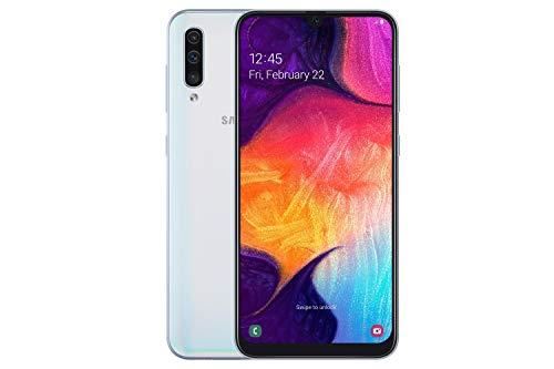 Samsung Galaxy A50 (A505) 128GB, Dual-SIM, 6.4' Infinity-U Display, Triple Camera, GSM Unlocked Smartphone - International Model (White)