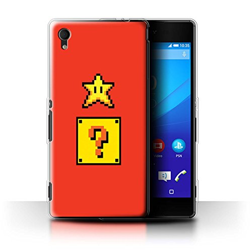 Stuff4 Phone Case/Cover/Skin/SXP-GC/Retro Gaming Characters Collection Sony Xperia M4 Aqua Super Star/Block Box