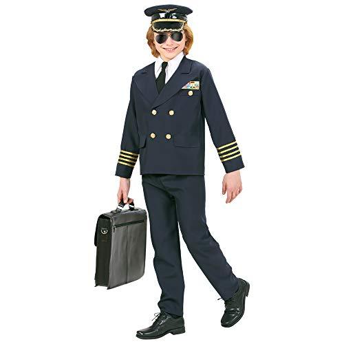 Widmann 73147 Costume de pilote pour enfant, veste et chapeau, multicolore, 8-10 Ans
