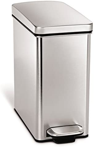 Best Slim Profile simplehuman stainless steel trash can 13 gallon for bathroom