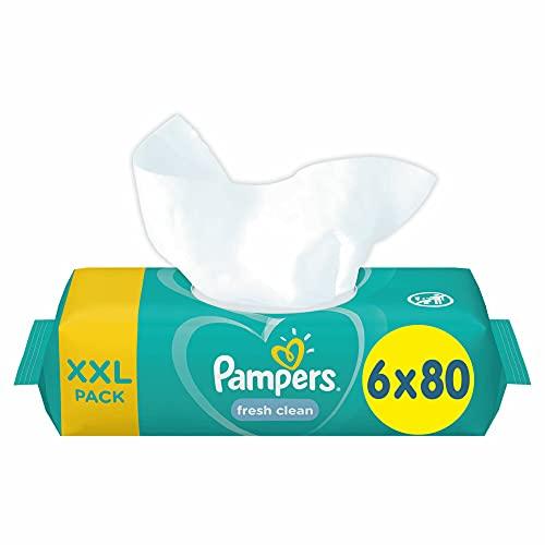 Pampers 81688051 Fresh Clean Baby Feuchttücher, weiß