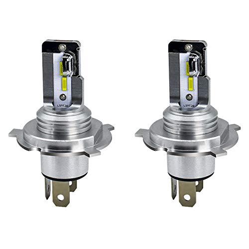 Ampoule de phare LED H4, faisceau Hi / Lo 9003 / HB2 phares de voiture, kit de conversion tout-en-un de feux de croisement de moteur, 2 pièces