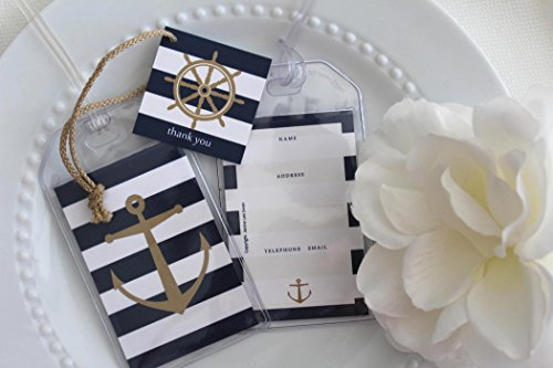 Janine Lea Swan designs 40 Nautical Luggage Tag Favors 1.25 ea.