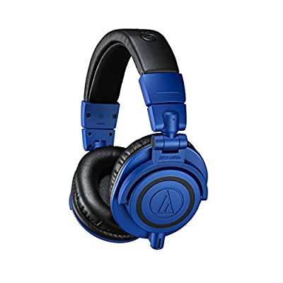 Audio-Technica ATH-M50xBB Limited Edition Professional Studio Monitor Headphones, Blue from audio-technica