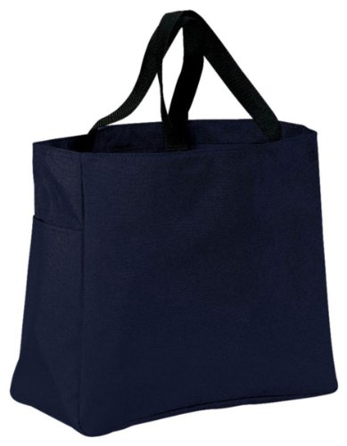 Port & Company luggage-and-bags Improved Essential Tote OSFA Navy