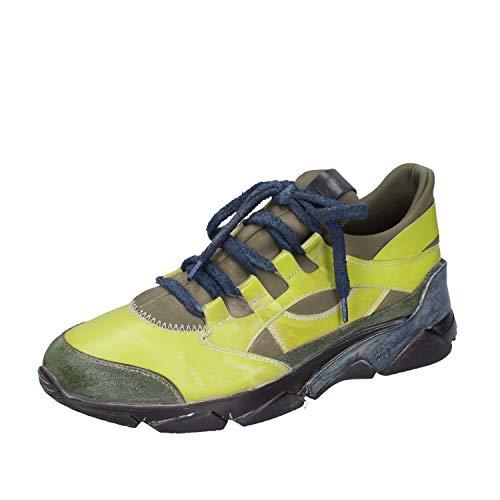 MOMA Sneakers Herren Leder grün 42 EU