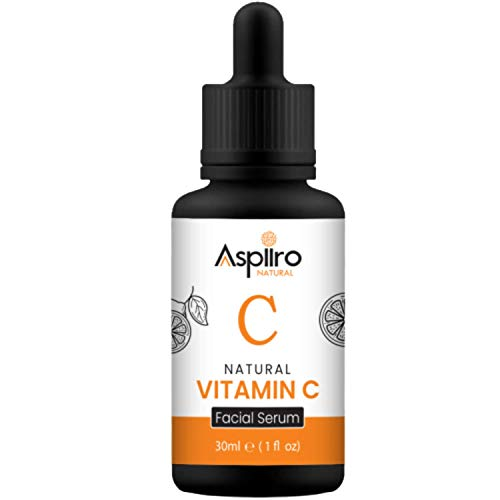Aspiiro Natural Vitamin C Serum For Face Whitening, Pigmentation, Radiant Skin & Anti Ageing - 30 ml | Serum For Face Glowing | Face Serum For Glowing Skin.