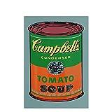 djnukd Andy Warhol, Sopa De Tomate, Arte De Pared Abstracto, Póster, Pintura En Lienzo, Impresiones De Imágenes para El Hogar, Decoración De Habitación Vintage, 50X70Cmx1 Sin Marco