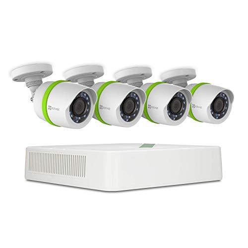 EZVIZ 1080p TVI Surveillance System, 8 Channels, 4 Cameras, 1TB HDD - REFURBISHED (Renewed)