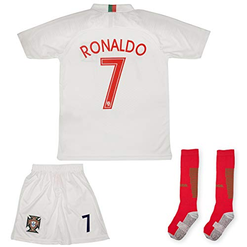 ATB Portugal Ronaldo Heim/Auswärts 18/19 Kinder Trikot Hose mit Socken (104, Auswärts)
