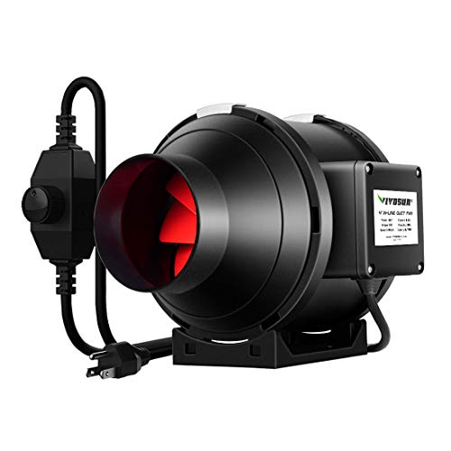 VIVOSUN 4 Inch 190 CFM Inline Duct Ventilation Fan with Variable Speed Controller for Grow Tent