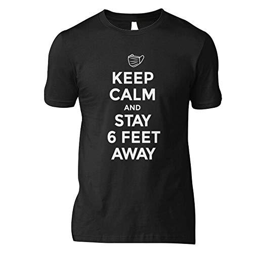 Córonavirus Cóvid 19 Keep Calm And Stay 6 Feet Away - A Córona Virus Cóvid19 Social Distance Design With Facemask Classic T-Shirt