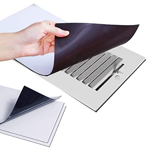 """CANOPUS Magnetic Vent Covers (3-Pack), White, Rectangular 8""""-By-15"""", Very Strong, for Home Vent Grills & Registers, to Reduce Air Flow & Sound Through Vents, Compatible with Most Standards Vents"""