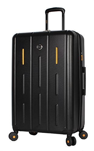 Lucas Luggage Hard Case 27' Expandable Suitcase With Spinner Wheels (27in, Genesis Black)