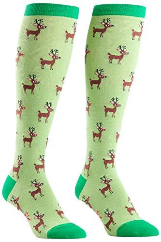 Sock It To Me Women's Reindeer Games Holiday Knee High Socks