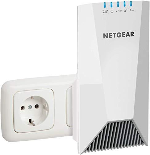 NETGEAR Répéteur Wifi Mesh EX7500 (Amplificateur Wifi) Tri Band, Couvre Jusqu'à 200m2 et 40 Appareils, Boost et Répète le Signal Jusqu'à 2200 Mbps, 1 Seul Nom de Réseau et Itinérance Transparente