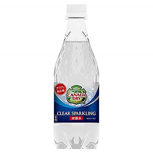 コカ・コーラ カナダドライ クリアスパークリング 無糖 炭酸水 ペットボトル 500ml×24本