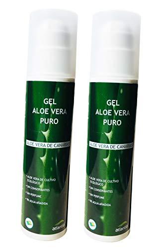 2 x 200ml Aloe Vera Gel 100% pur d´une agriculture biologique rigoureusement contrôlée dans les îles Canaries