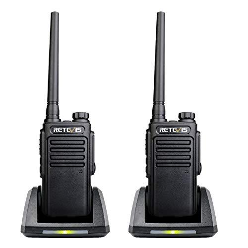 Retevis RT647 Walkie Talkie Recargable, IP67 Impermeable, 16 Canales PMR 446, Alcance de hasta 3 KM, 50CTCSS 210DCS, Cargador USB Universal, Walkie Talkie Profesional(Negro, 1 Par)