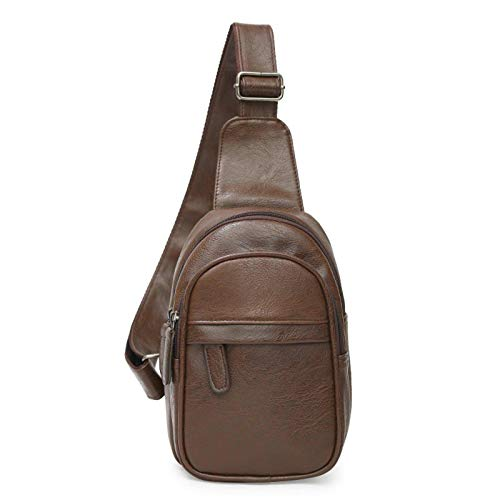 N-B Men's Solid Color Chest Bag Outdoor Leisure Messenger Sports Tide Small Bag Single Shoulder Strap Backpack Shoulder Bag Messenger Bag