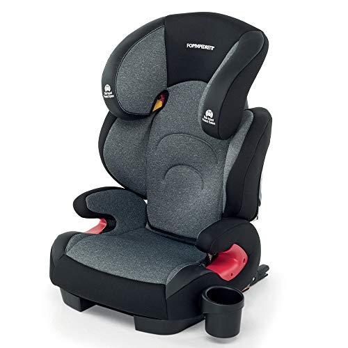Foppapedretti 9700418104 Best duoFix Seggiolino Auto Omologato, Gruppo 2-3 (15-36 kg), per Bambini da 3 a 12 Anni, Carbon