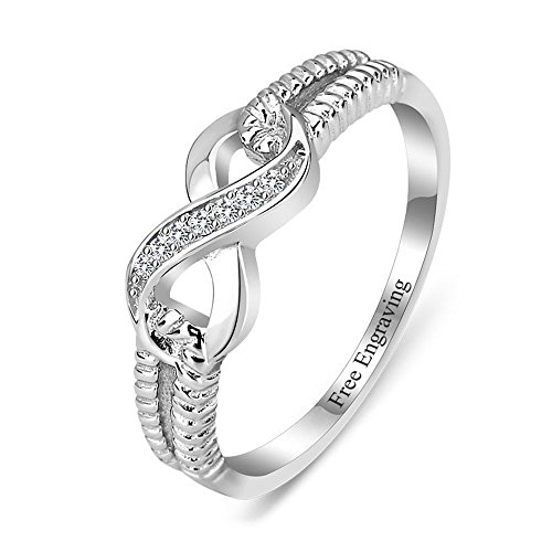 Lam Hub Fong Personalized Infinity Friendship Rings BFF Rings for Women Sisters Rings Name Rings Promise Rings for Her Valentines Day Jewelry for Women (8)