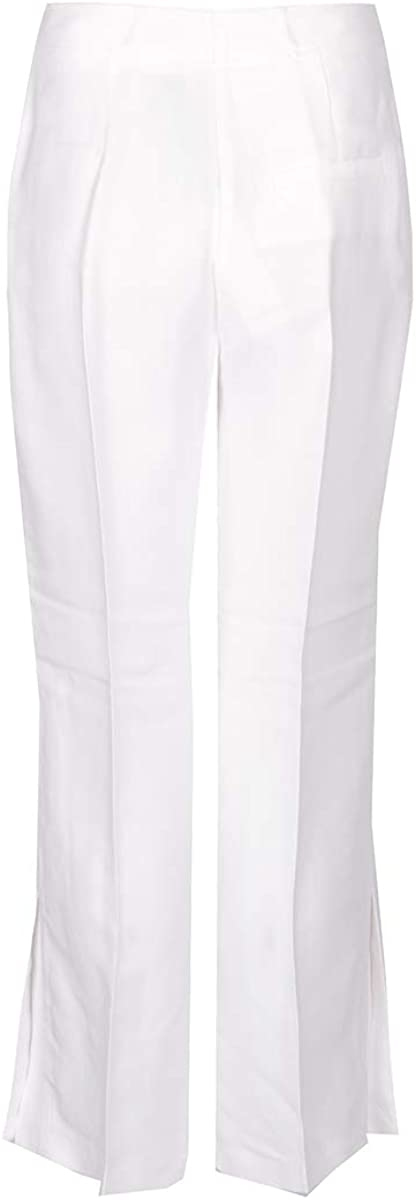 Pinko Paterno Pantalone Canvas Fluido Femme Blanc