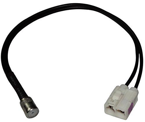 AERZETIX: Connecteur câble Adaptateur fiche antenne autoradio Double FAKRA Femelle Blanc ISO pour Auto Voiture