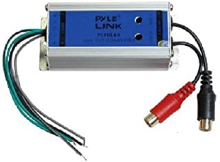 2-Channel Speaker to RCA Converter - 2 Channel Hi/Low Level RCA Converter w/ Ground Loop Isolation and Noise Elimination, Aluminum Housing, Adjustable level, 50W Max Input - Pyle PLVHL60