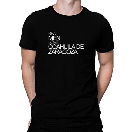 Teeburon Real Men Love Coahuila De Zaragoza Bold Camiseta