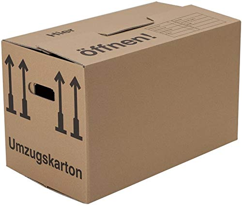 BB-Verpackungen 20 x Umzugskarton Profi 600 x 328 x 340 mm (stabil 2-wellig aus recycelter Pappe) - Sets zwischen 5 und 150 Stück