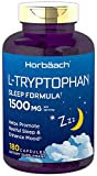 L Tryptophan 1500mg Capsules | 180 Count | Sleep Formula | Non-GMO, Gluten Free Supplement | by Horbaach